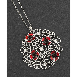 Equilibrium Poppy Cluster Long Necklace - Quirky Giftz Ltd