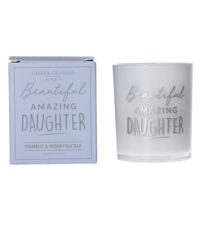 Beautiful Amazing Daughter Mini Candle - Quirky Giftz Ltd