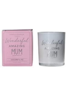Wonderful Amazing Mum Mini Candle - Quirky Giftz Ltd