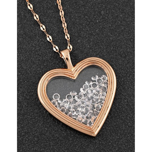 Equilibrium Rose Gold Heart Necklace - Quirky Giftz Ltd