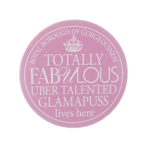 Wall Plaque Glamapuss - Quirky Giftz Ltd