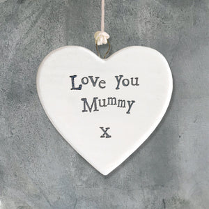 East Of India Porcelain Heart 'Love You Mummy' - Quirky Giftz Ltd