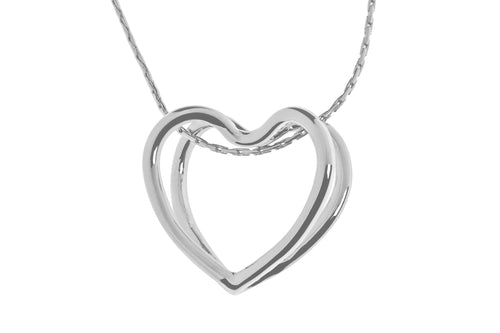 Lovely Elegant Double Heart Necklace - Quirky Giftz Ltd
