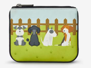 Puppy Dogs Zip Top Leather Purse - Quirky Giftz Ltd