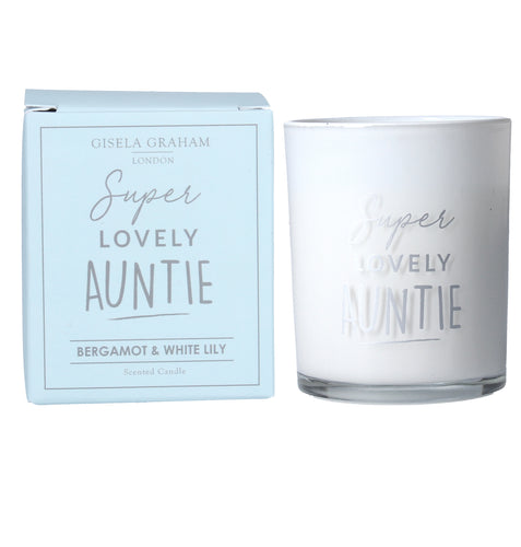 Super Lovely Auntie Mini Candle - Quirky Giftz Ltd