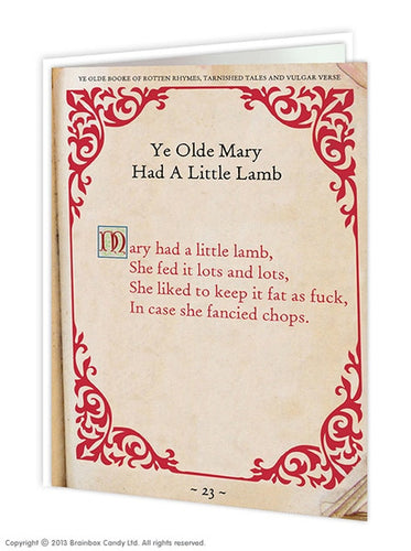 Ye Olde Mary Had A Little Lamb - Quirky Giftz Ltd