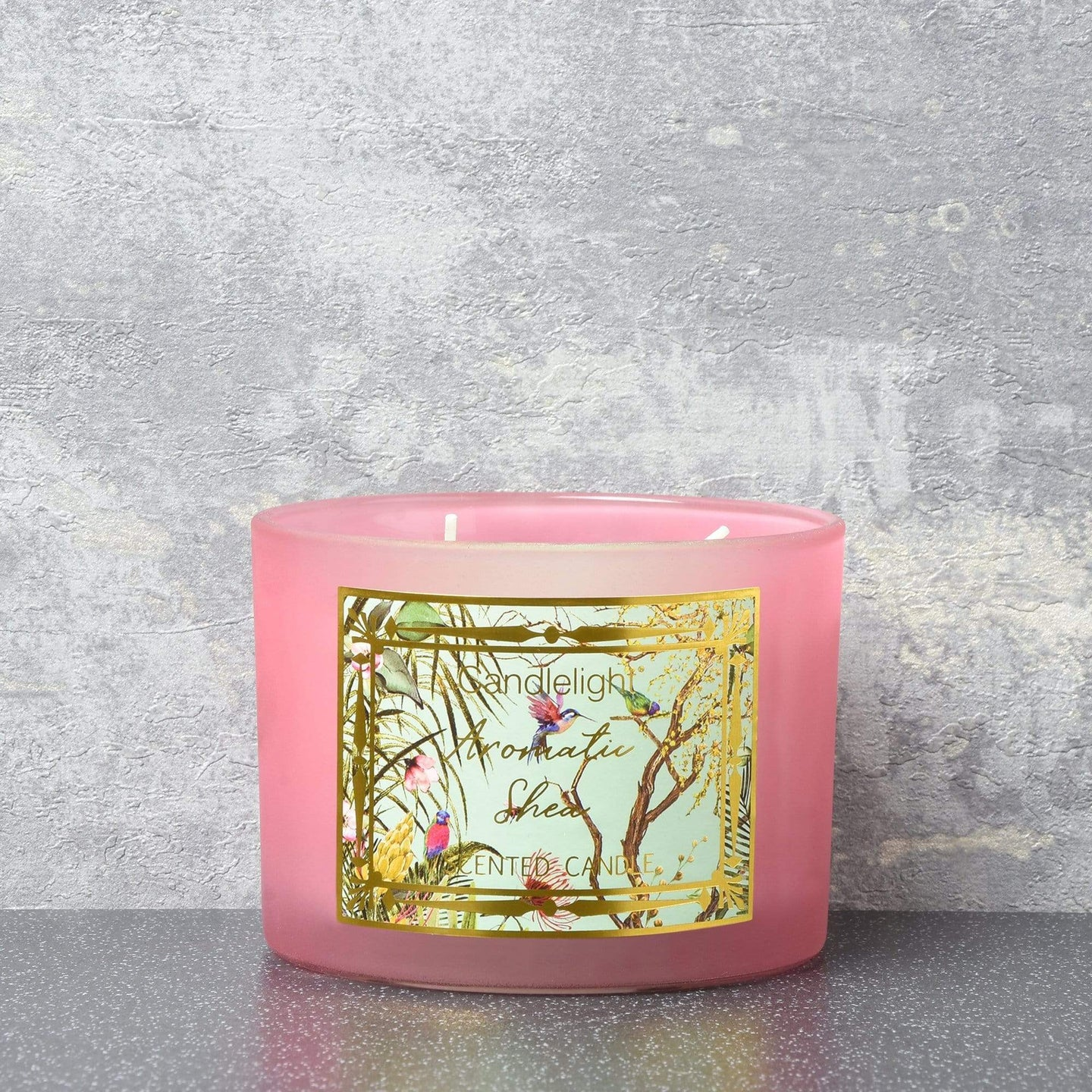Candlelight Chinoiserie 2 Wick Wax Filled Candle Pot Aromatic Shea Scent 380g - Quirky Giftz Ltd