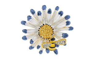Bumble Bee On Flower Brooch - Quirky Giftz Ltd
