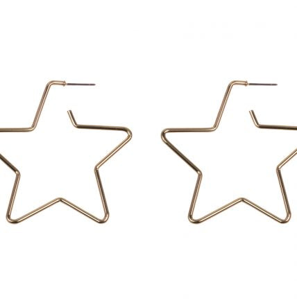 Hermione Brass Star Earrings - Quirky Giftz Ltd