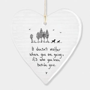 East Of India Porcelain Heart - Quirky Giftz Ltd