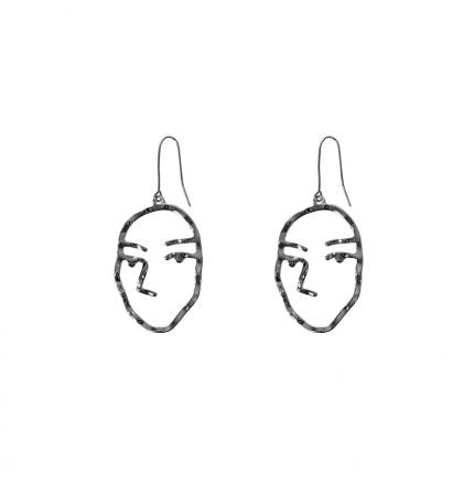 Juliette Face Brass Earrings - Quirky Giftz Ltd