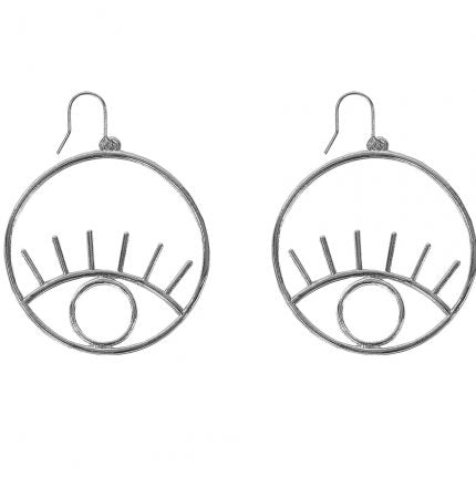 Bernadette Eyes Hoops Earrings - Quirky Giftz Ltd