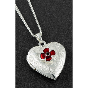 Equilibrium Poppy Heart Necklace - Quirky Giftz Ltd