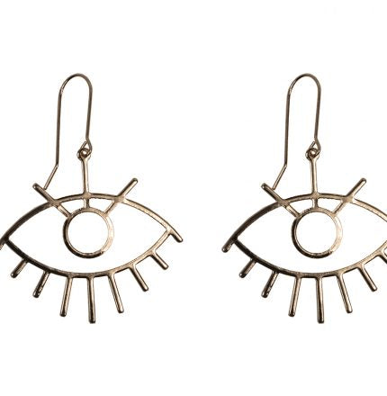 Lotus Gazing Eyes Earrings - Quirky Giftz Ltd