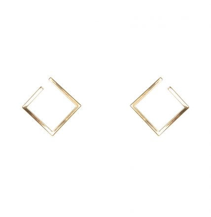 Denise Open Square Geometric Earrings - Quirky Giftz Ltd