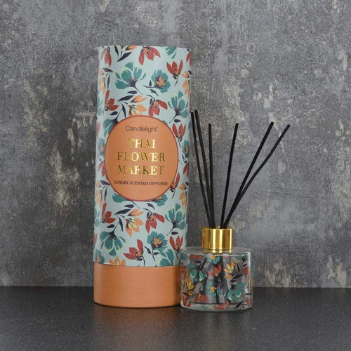 Candlelight Thailand Reed Diffuser in Gift Box Thai Flower Market Scent 150ml - Quirky Giftz Ltd