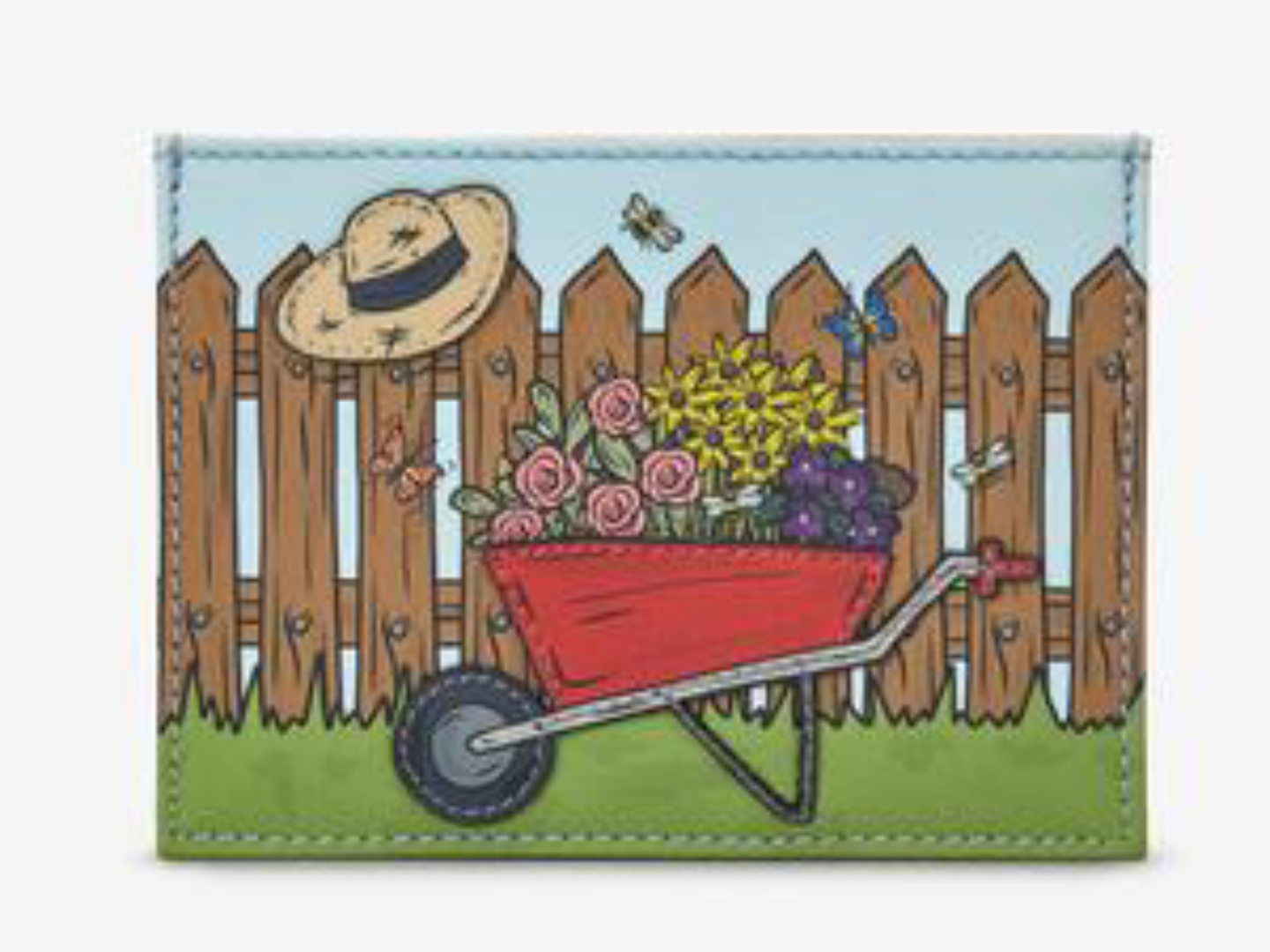 Flower Garden Leather Academy Card Holder - Quirky Giftz Ltd