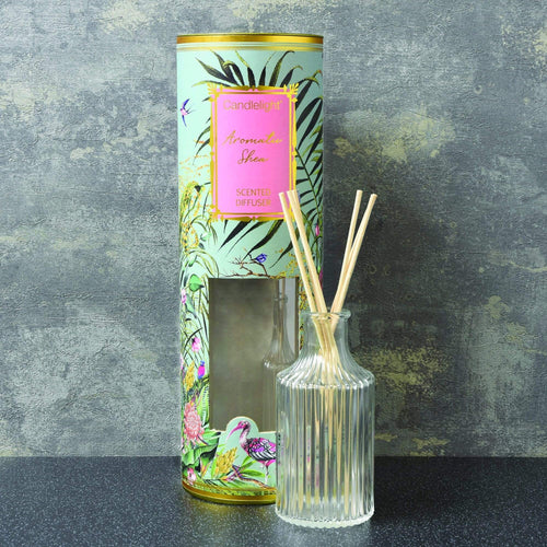 Candlelight Chinoiserie Reed Diffuser Aromatic Shea Scent - Quirky Giftz Ltd