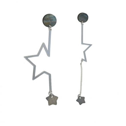 Corin Asymmetric Shell Star Earrings - Quirky Giftz Ltd
