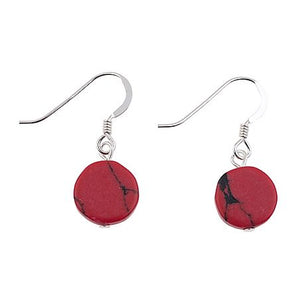 Red Mosaic Coins Earrings - Quirky Giftz Ltd