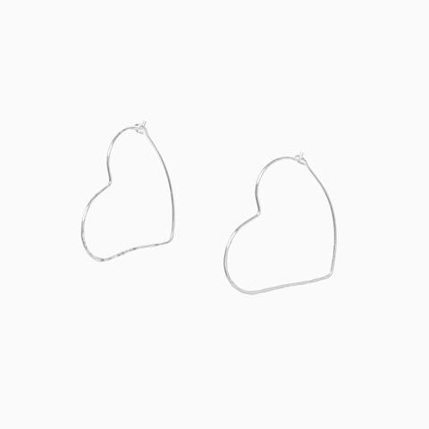 Morgan Heart Hoop Earrings - Quirky Giftz Ltd