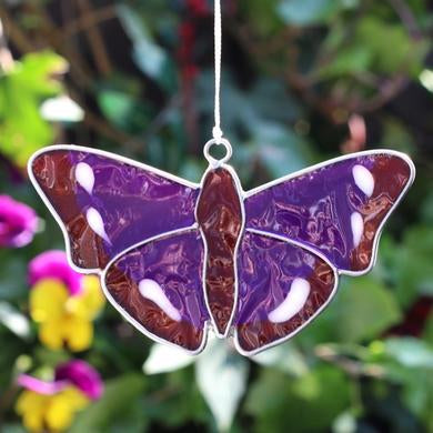 Purple Emperor Butterfly Suncatcher - Quirky Giftz Ltd