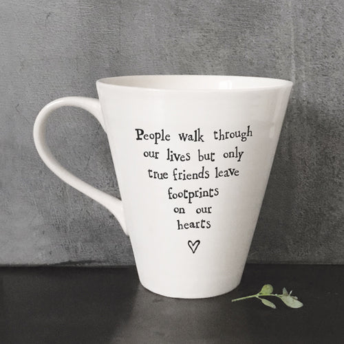 East Of India Porcelain Mug 'People Walk Through Our Lives...' - Quirky Giftz Ltd