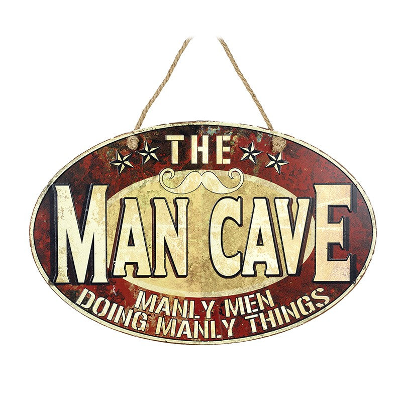 Man Cave Iron Sign - Quirky Giftz Ltd