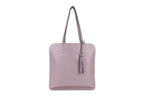 Lilac Ladies Faux Leather Top Handled Tote bag with Tassle Detail - Quirky Giftz Ltd