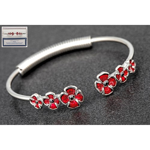 Equilibrium Poppy Spring Bangle - Quirky Giftz Ltd