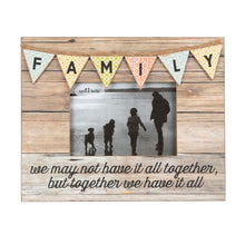 Load image into Gallery viewer, Family Rustic Bunting Photo Frame - Quirky Giftz Ltd