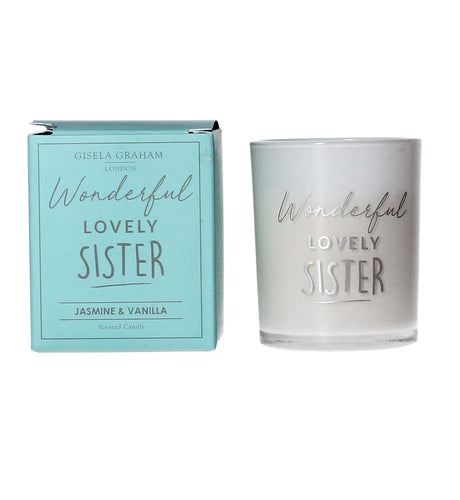 Wonderful lovely Sister Mini Candle - Quirky Giftz Ltd