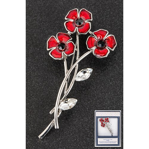 Equilibrium Poppy Posy Brooch - Quirky Giftz Ltd