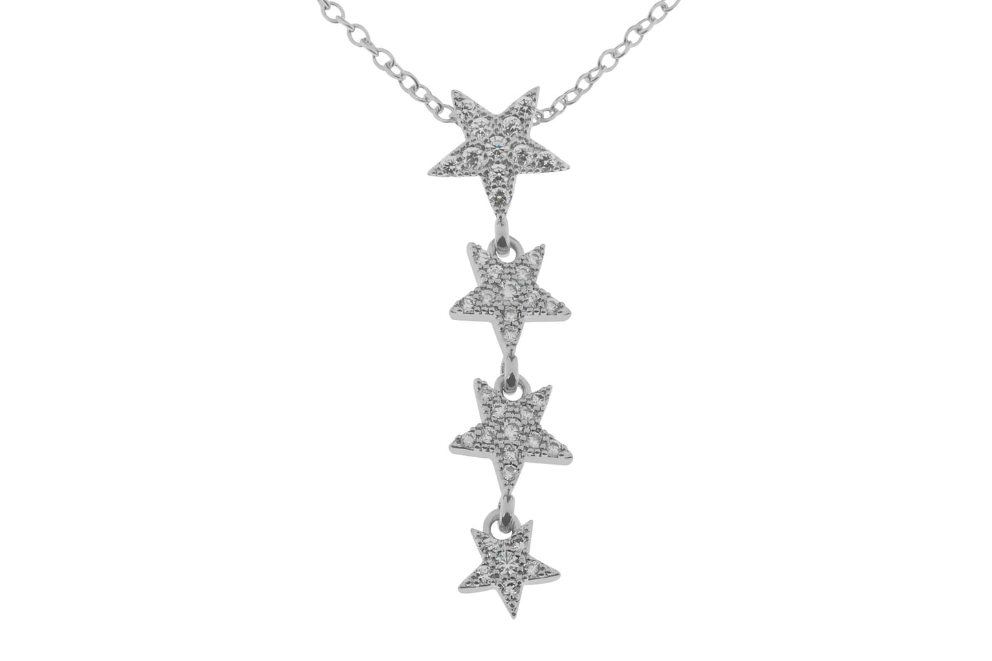 Elegant Four Star Drop Necklace - Quirky Giftz Ltd