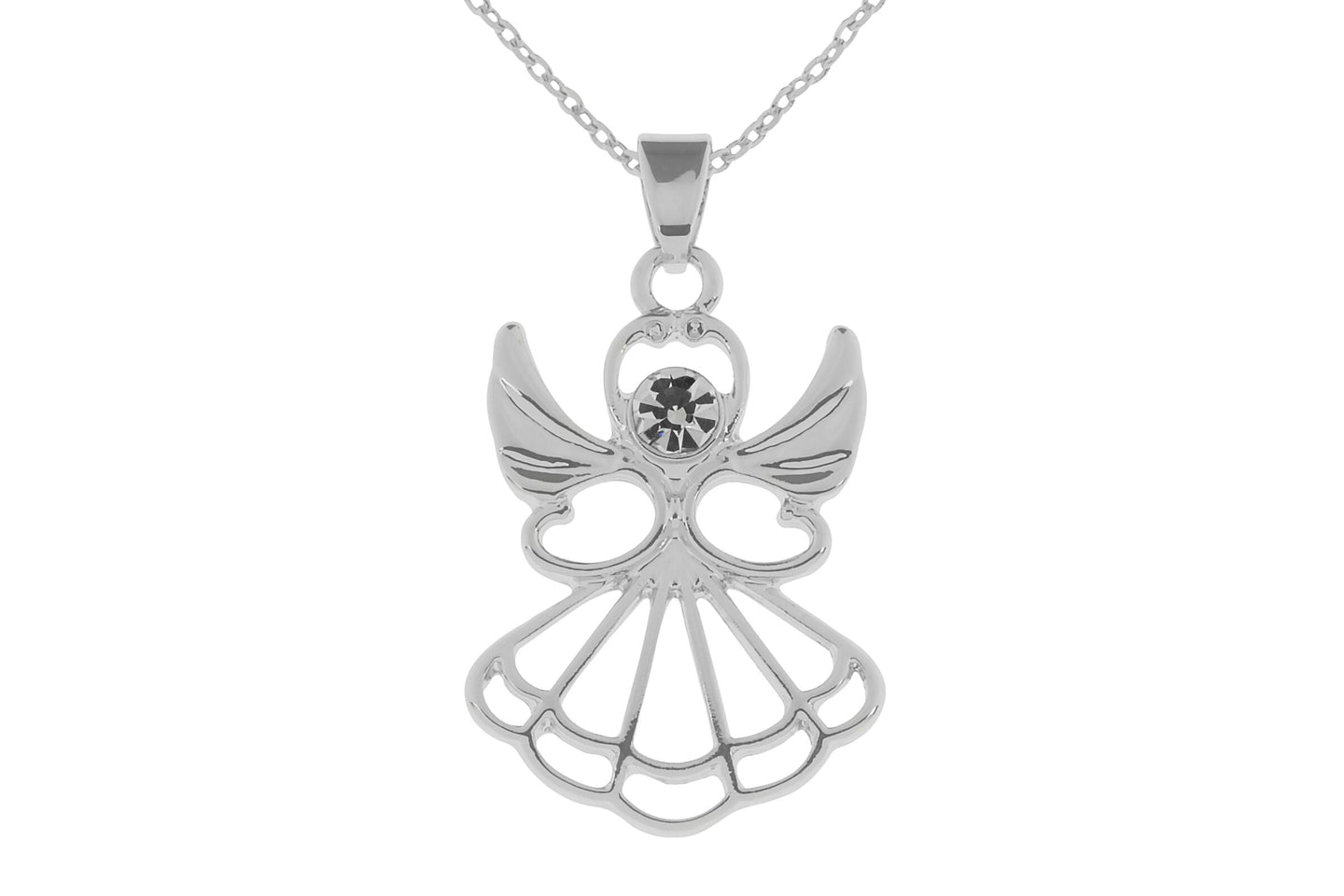Silver Angel Necklace - Quirky Giftz Ltd