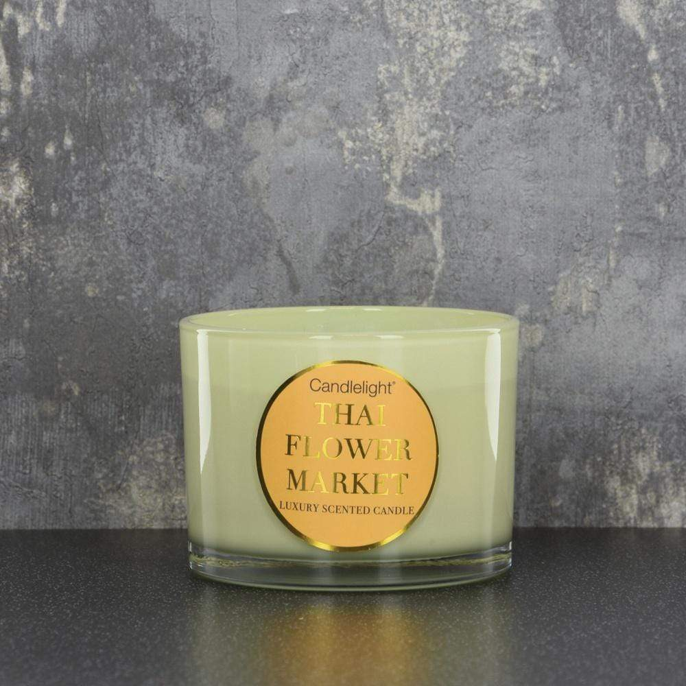 Candlelight Thailand Wax Filled Pot 2 Wick Candle 380g - Quirky Giftz Ltd