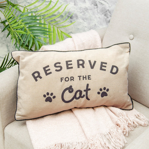 """Reserved For The Cat"" Cushion - Quirky Giftz Ltd"