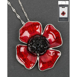Equilibrium Delicate Poppy Necklace - Quirky Giftz Ltd