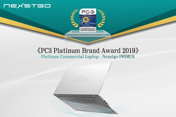 "PRIMUS has won the ""Platinum Commercial Laptop"" award in《PC3 Platinum brand award 2019》"