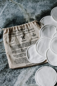 Reusable bamboo cotton rounds