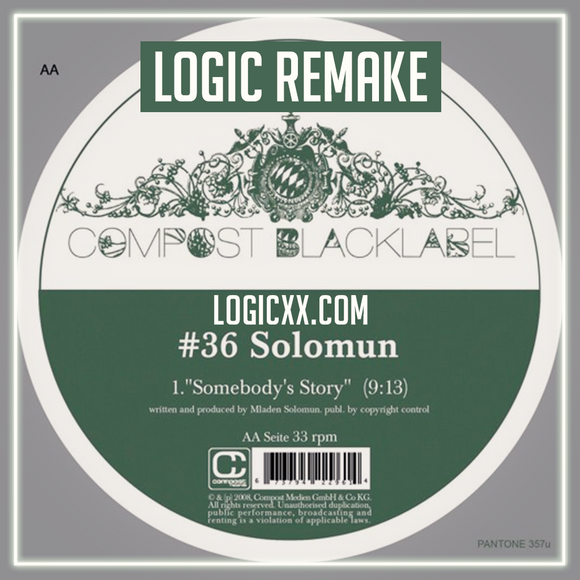 Solomun - Somebody's story Logic Pro Remake (Tech House Template)