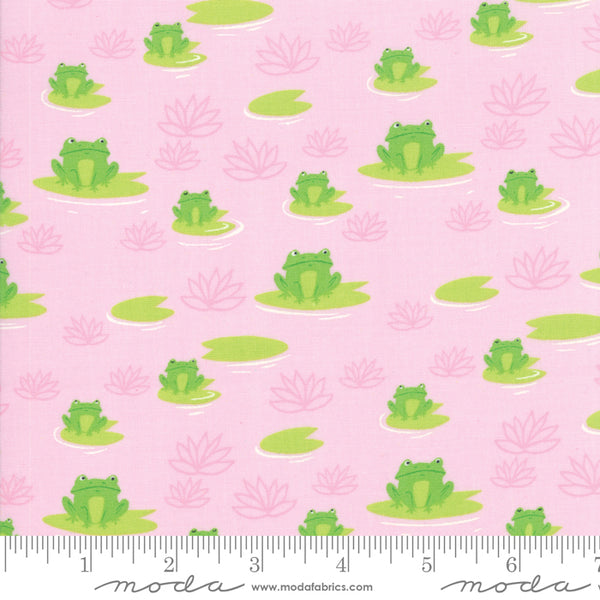 1/2m Sunday Picnic Frogs - Pink