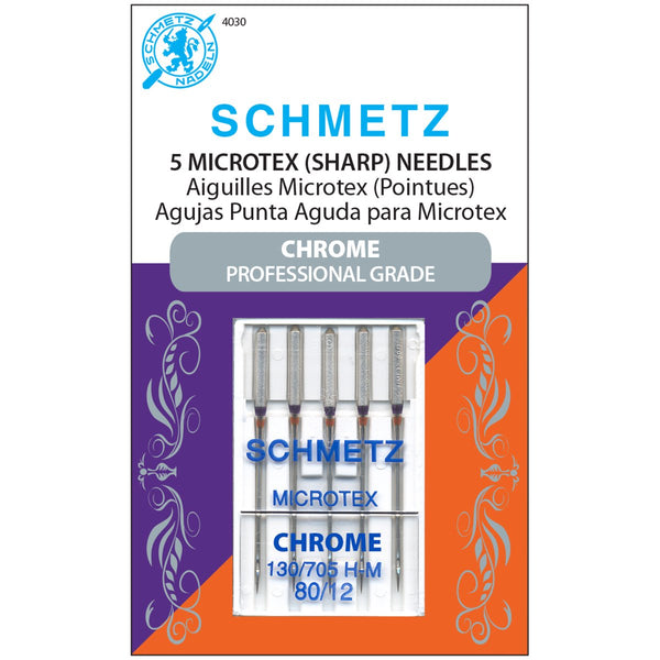 Schmetz Chrome Microtex Needles - 80/12