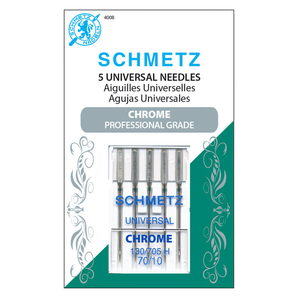 Schmetz Chrome Universal Needles - 70/10