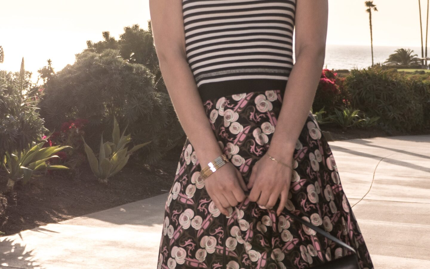 Mixing and Matching Stripes and Florals