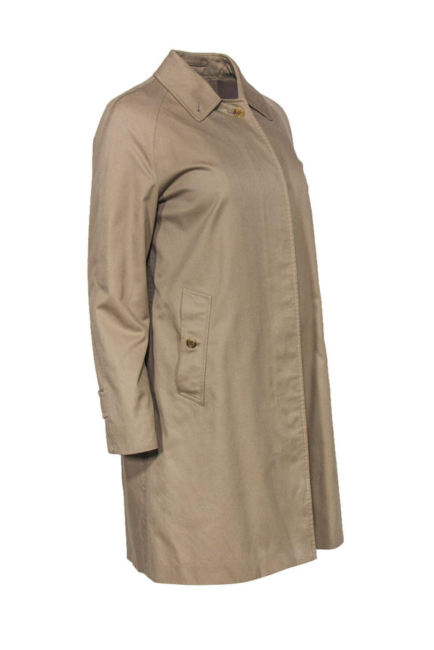 Current Boutique-Burberry - Tan Trench Coat w/ Plaid Lining Sz 8