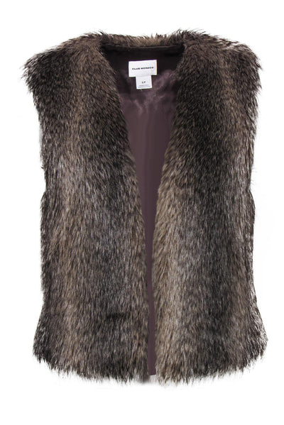 Current Boutique-Club Monaco - Brown & Tan Faux Fur Vest Sz S/P