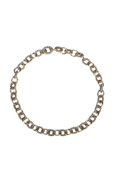 Current Boutique-David Yurman - Sterling Silver & Solid Gold Chainlink Choker