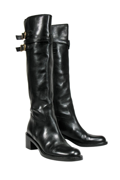 Current Boutique-Gucci - Black Leather Knee High Booties Sz 7
