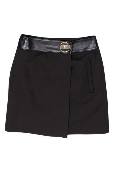 Current Boutique-Gucci - Brown Fold Over Mini Skirt Sz 10